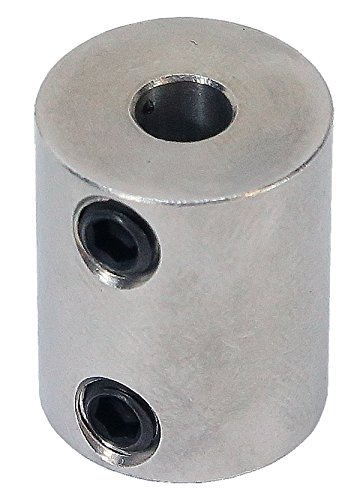 3/8 inch to 5mm Stainless Steel Set Screw Shaft Coupler ServoCity 625200