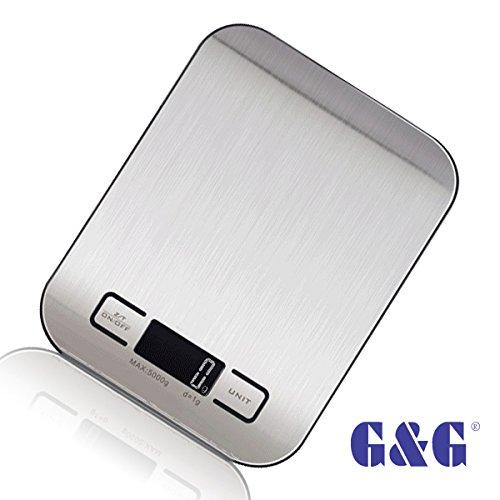 G G 5kg 1g Ki Kuchenwaage Aaa Batterien Briefwaage Feinwaage Nur