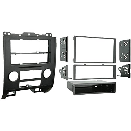 Metra 99-5814 Single or Double DIN Installation Kit for 2008-up Ford Escape/Mercury Mariner (Black) ()