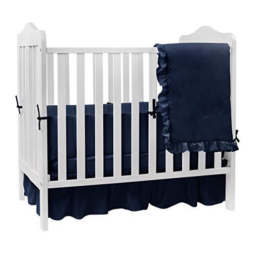 Babydoll Solid Color Crib Bedding Set, Navy