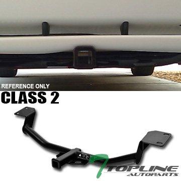 "Topline Autopart Class 2 II Black 2"" Rear Bumper Trailer Tow Hitch Towing Mount Receiver Tube For 03-08 Toyota Matrix XR/XRS"