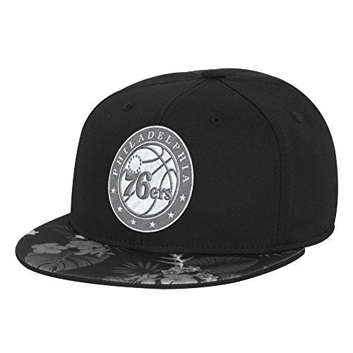 fan products of NBA Philadelphia 76ers Men's Fanwear Hawaiian FVF Cap, Small/Medium, Black
