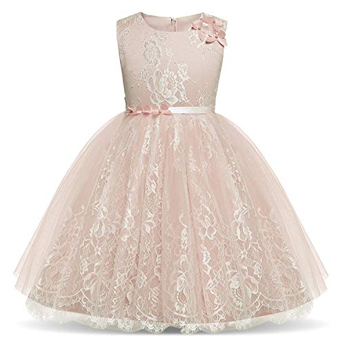Floral Girl Dress for Infant Kids Baby Girl Party Wear Dresses Birthday Outfits,As photo1,8 ()