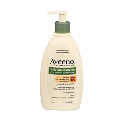 Aveeno Active Naturals Daily Moisturizing Lotion, SPF 15, 12 fl oz - 2pc