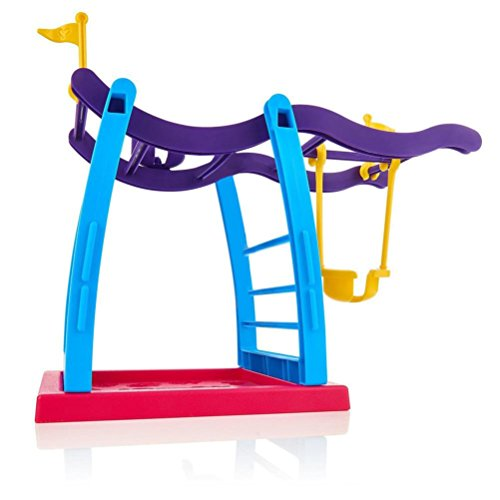 Interactive Baby Monkey Playset/Jungle Gym Accessories Case and Batteries, Interactive Monkey Cute Gym Playground Swingbar Baby Monkey Swing Set Climbing Stand Seesaw Playset (1 Pack Swing)