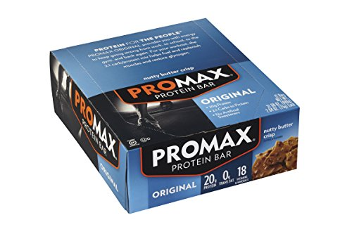 Promax Protein Bar, Nutty Butter Crispy, 12 Count, 31.68 oz (Crispy 15 Protein)