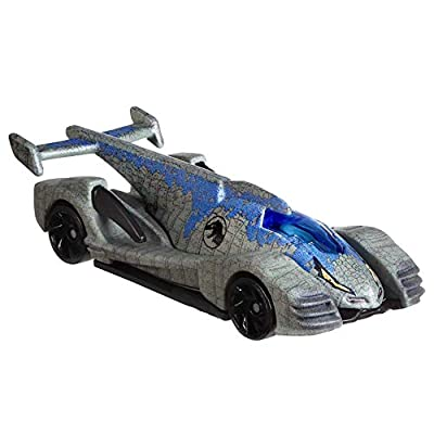 Hot Wheels Jurassic World Velociraptor Blue Vehicle: Toys & Games