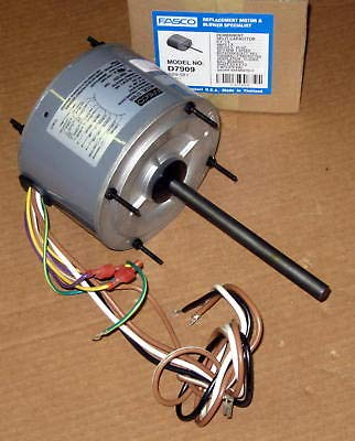 Fasco D7909 5.6-Inch Condenser Fan Motor, 1/4 HP, 208-230 Volts, 1075 RPM, 1 Speed, 1.8 Amps, Totally Enclosed, Reversible Rotation, Ball -