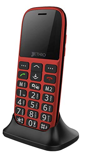 Jethro 3G Unlocked Senior & Kids Bar Cell Phone Model SC318v2 Red