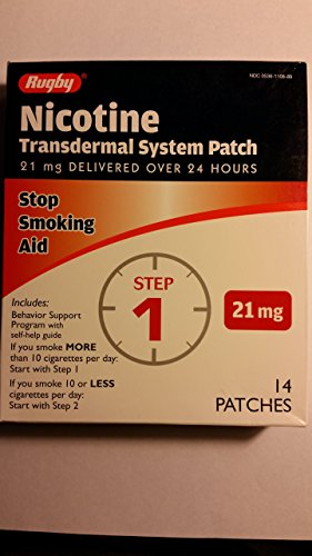 - Rugby Nicotine Transdermal System Opaque Patch Step 1 Stop Smoking Aid 21 mg 14 Patches