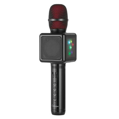 Wireless Karaoke Microphone,Cocopa Portable Handheld Mic Built-in Speaker With Multi-function Professional Classic-style Karaoke Player for iPhone/Android/Smartphone, Home Party KTV, Outdoor, Karaoke by Cocopa