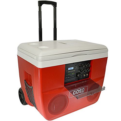 GOSO M5 Cooler Stereo and Karaoke Set Loud Speaker System will Play Music from Bluetooth, SD Card and USB, 52 quart