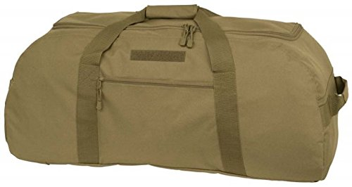 Mercury Tactical Gear Code Alpha Giant Convertible Duffel Bag with Backpack Straps, Basic, Coyote Brown