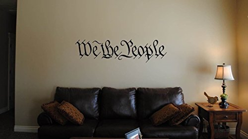 (Bluegrass Decals We the People Wall Decal Sticker 39 Inches x 10 Inches Wall Art)