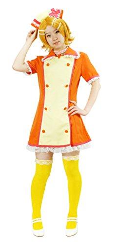 MILICA BOOKS Vocaloid Love Colored Ward Kagamine Rin Nurse Cosplay Costume (Large) Orange ()