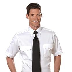 Van Heusen Men's Aviator Pilot Shirt - Short Sleeve