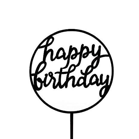 Amazon.com: 1 pieza acrílico feliz cumpleaños decoración ...