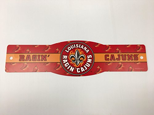 Louisiana University - NCAA University of Louisiana Lafayette Ragin' Cajuns 4 x 17 inch Plastic Street Sign