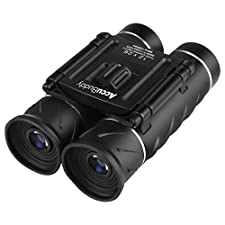 AccuBuddy Premium Compact Binocular - 12x Magnification Wide View Mini HD Telescope with adjustable Focus ideal for bird watching