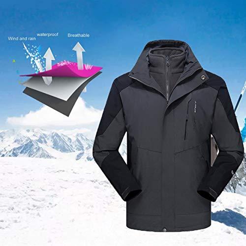 Couche Pull Manteau randonnée Plein intérieure Polaire Trekking Ski Camping Hiver Chaud air à imperméable en l'eau Sport Veste Delicacydex Unisexe 3 Vestes wSx6xEa