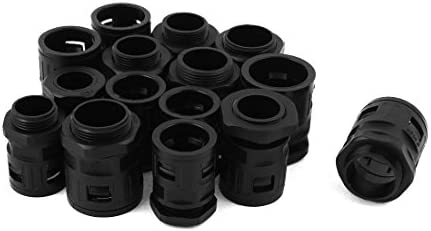uxcell クイックコネクタ 空気圧継ぎ手 ブラック プラスチック材質製 防水 取替品 15本入り