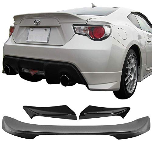 Limited Time Sale! Fit For 2013-2017 Scion FRS BRZ TR-D Trunk + Side Spoiler ABS Amazon#