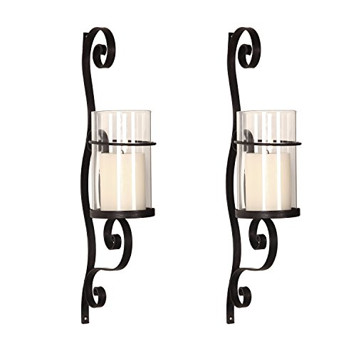 Homebeez Wall Hanging Candle Holder Sconce Wall Decor Set of 2 (Wall Sconces Decor Set)
