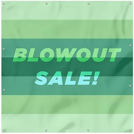Modern Gradient Wind-Resistant Outdoor Mesh Vinyl Banner CGSignLab Blowout Sale 8x8