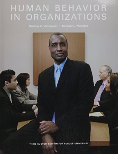 Human Behavior in Organizations (3rd Edition)