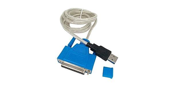 Yivise Nuevo USB a la Impresora DB25 Adaptador de Cable de Puerto ...