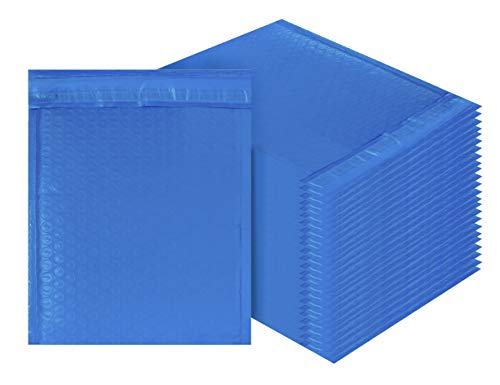 Blue Poly Bubble mailers 6.5 x 9 Padded envelopes 6 1/2 x 9 by Amiff. Pack of 25 Poly Cushion envelopes. Exterior Size 7.5 x 9 (7 1/2 x 9). ()