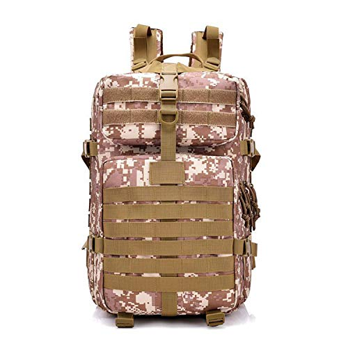 azhuang Large Capacity Charge Pack Rush Camouflage Mountaineering Backpack for Outdoor Hiking Camping Hunting Bag,Camouflage Yellow,30-40l ()