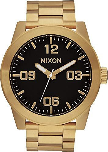 Nixon Mens The Corporal SS Watch - Gold/Black ()