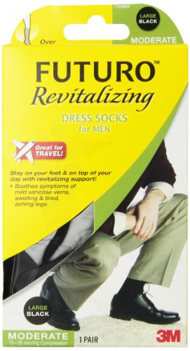 Futuro Revitalizing Black Dress Socks