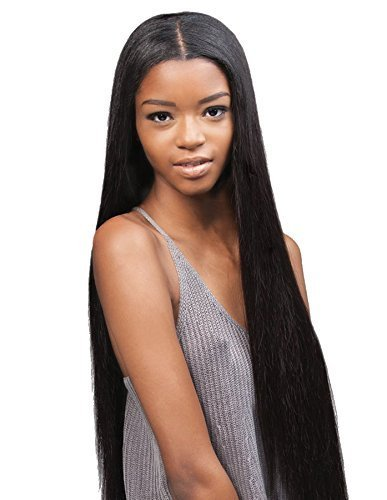 Outre Simply Unprocessed Brazilian Human Hair Weave 7 pcs - Natural Straight 10 12 14-Natural Black (Outre Simply Unprocessed Brazilian Human Hair Weave)