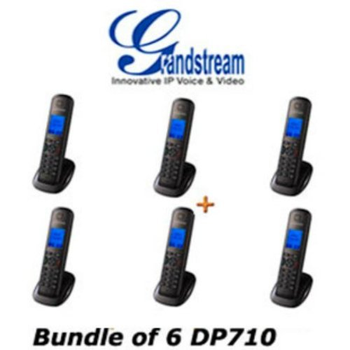 Grandstream DP710 VoIP DECT Cordless IP Phone Handset & Charger Unit Bundle of 6 - Grandstream Ip Phone Cordless