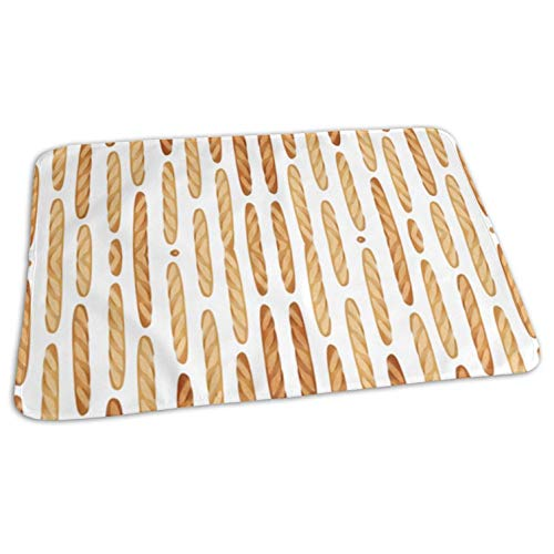 Baguette Bread Infant Waterproof Diaper Changing Pads Soft Changing Table Pad Bed Play Stroller Crib Car Diaper 19.7x27.5""