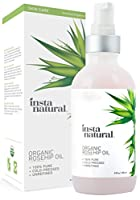 Organic Rosehip Seed Oil - 100% Pure & USDA Certified Unrefined Virgin Oil - Moisturizer for Skin, Hair, Stretch Marks, Scars, Discoloration, Wrinkles & Fine Lines, 4 Fluid ounces
