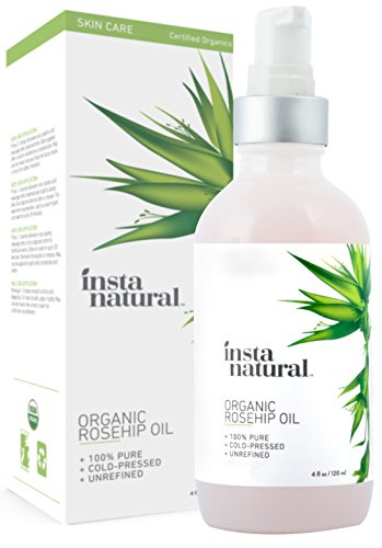 InstaNatural-Organic-Rosehip-Seed-Oil-100-Pure-Unrefined-Virgin-Oil-Natural-Moisturizer-for-Face-Skin-Hair-Stretch-Marks-Scars-Wrinkles-Fine-Lines-Omega-6-Vitamin-A-C-4-Oz