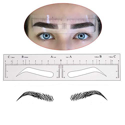 20Pcs Disposable Eyebrow Ruler Sticker Eyebrow Shaping Stencils Microblading Supplies Adhesive Eyebrow Microblading Template Tool Permanent Makeup Measure Tool