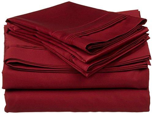 Linenwala 100% Percale Cotton 4 PC Sheet Set Ultra Soft & Cozy Bedding Sheets 15