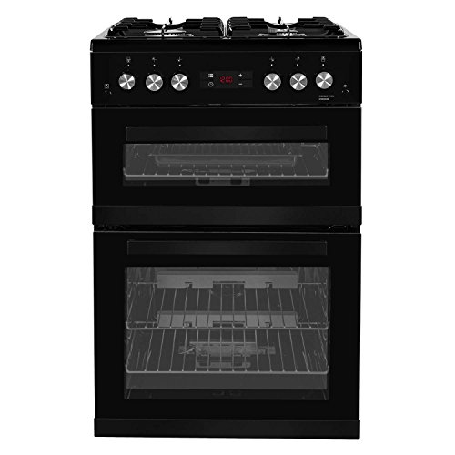 Beko KDG653K 60cm Double Oven 4 Burners Gas Cooker in Black with LED Timer...