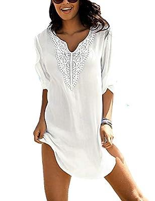 Ailunsnika Bikini Swimwear Cover Up for Women Loose Beach Tunic Dress