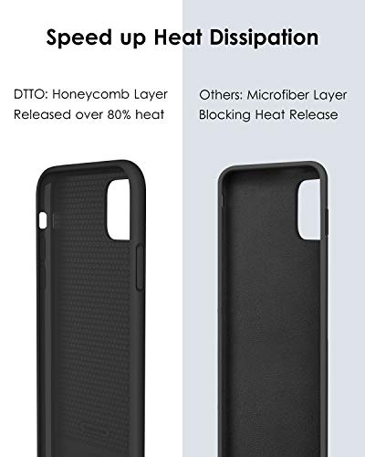 DTTO Compatible with iPhone 11 Pro Max Case, [Romance Series] Silicone Cover [Enhanced Camera and Screen Protection…