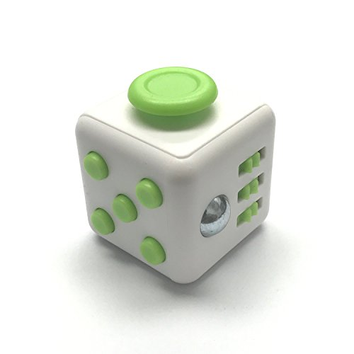 Gadget Tech Fidget Box Relieves Stress and Anxiety for Children and Adults Anxiety Attention Toy, Green/White