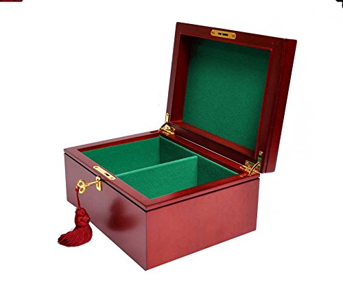 Premium Chess Box - Red Burl - NO LOGO - by The House of Staunton ()