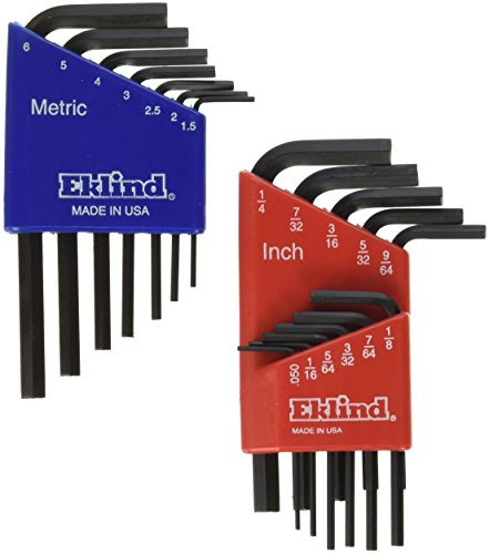 Eklind 10518 Metric & Standard 18pc Hex Key Set  - Short