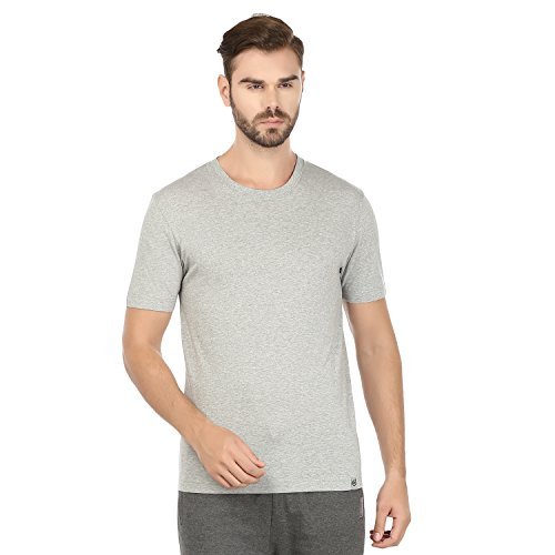 Macroman M - Series Men's 2-Pack Crew Neck Cotton Jersey with Sleeves Tank Top L Grey ()