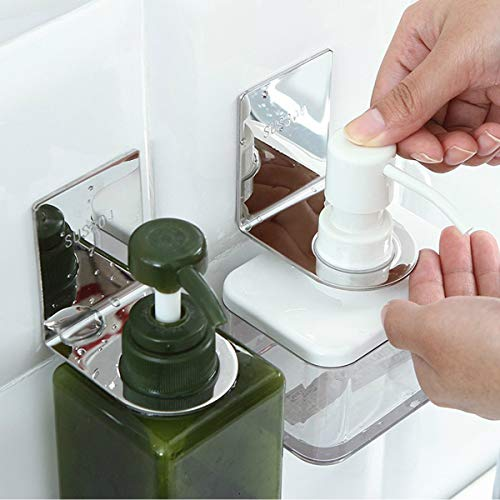 - SOFTBATFY Shampoo Holder Hook, 304 Stainless Steel Adhesive Wall Mounted for Bottles with Pump Dispenser for Shower Kitchen Bathroom