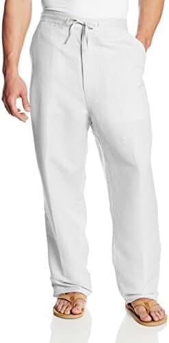Cubavera Men's Drawstring Pant with Back Elastic Waistband